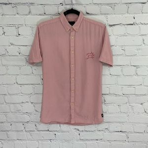 Barney Cools Embroidered Girls Button Up Shirt